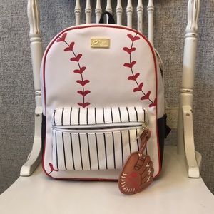 Betsey Johnson baseball backpack